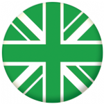 Great Britain Green Flag 25mm Flat Back